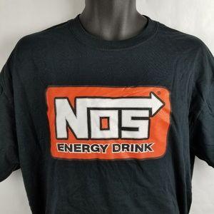 NOS Energy Drink Logo Car Racing T Shirt Large